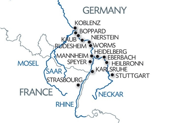 THE ROMANTIC RHINE VALLEY AND THE ROCK OF THE LORELEI PORT TO PORT CRUISE