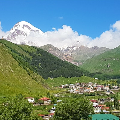 Georgia Kazbegi Stepantsminda Gergeti Trinity Church 20170701 094228
