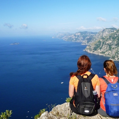 Italia Amalfi Sorrentohiking Vandring Path Of The Gods