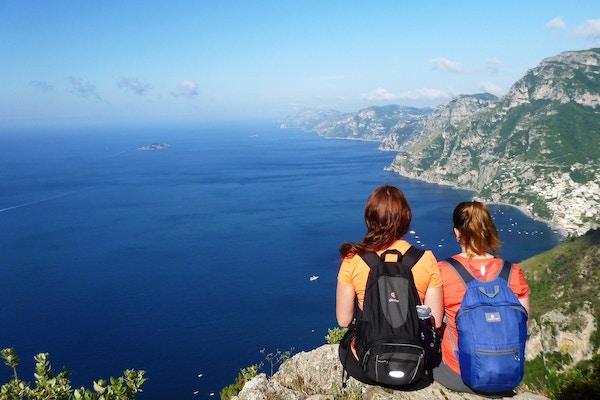 Italia Amalfi Sorrentohiking Vandring Path Of The Gods