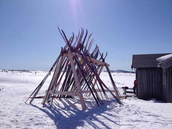 Norge Valdres vinter skistativ