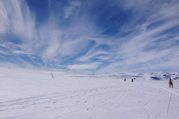 Norge Valdres vinter skitur