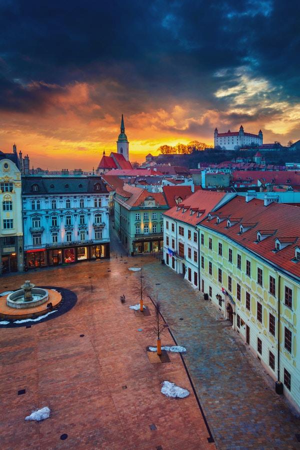 Getty Images 1129165447 Slovakia Bratislava vinter by