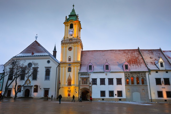 Getty Images 503680536 Slovakia Bratislava city hall