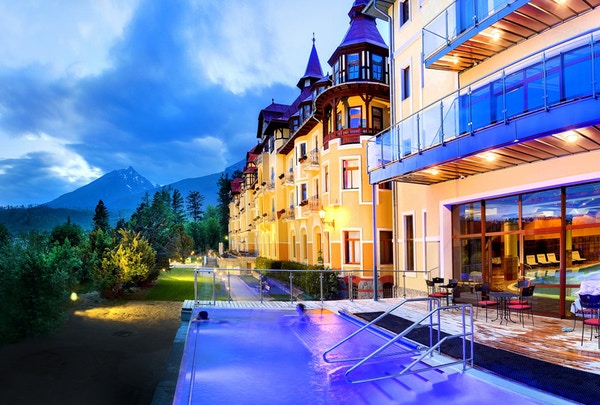 High Tatras Slovakia Grand Hotel Praha Aktiv Vandring basseng