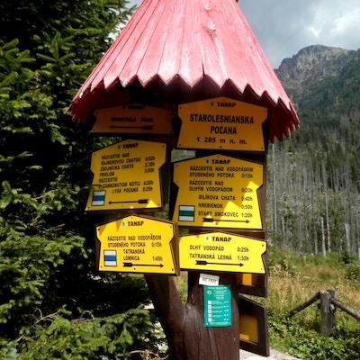 Slovakia Tatra Vandring Skilt