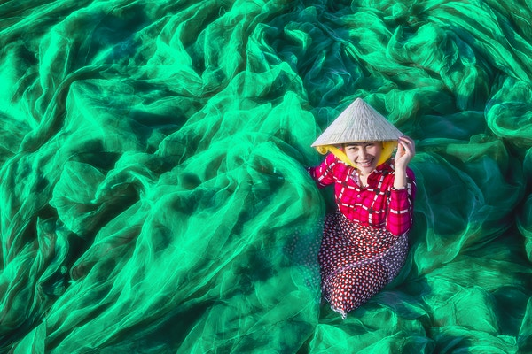 Getty Images 956756722 Vietnam fiske farge dame